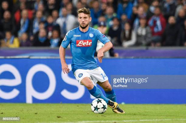 Dries Mertens of Napoli during the UEFA Champions League match between Napoli v Manchester City at San Paolo Stadium Naples Italy on 1 November 2017