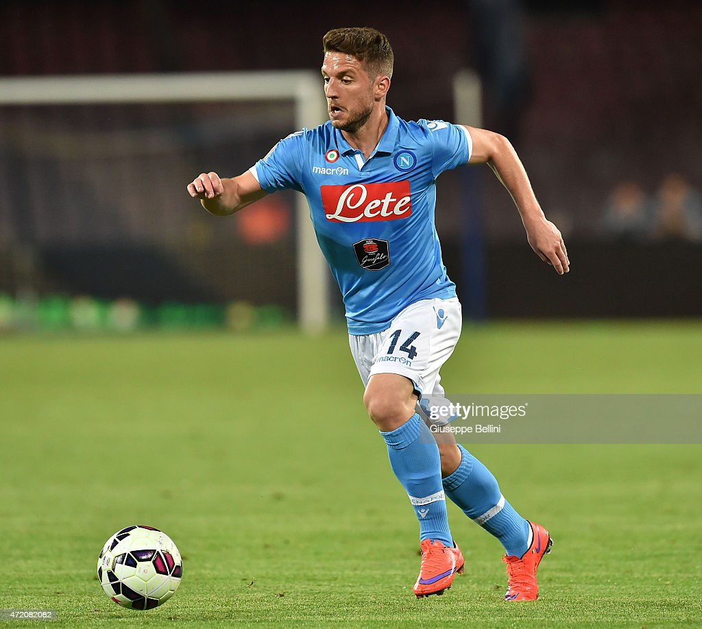 Dries Mertens of Napoli in action during the Serie A match between SSC Napoli and AC Milan at Stadio San Paolo on May 3, 2015 in Naples, Italy.