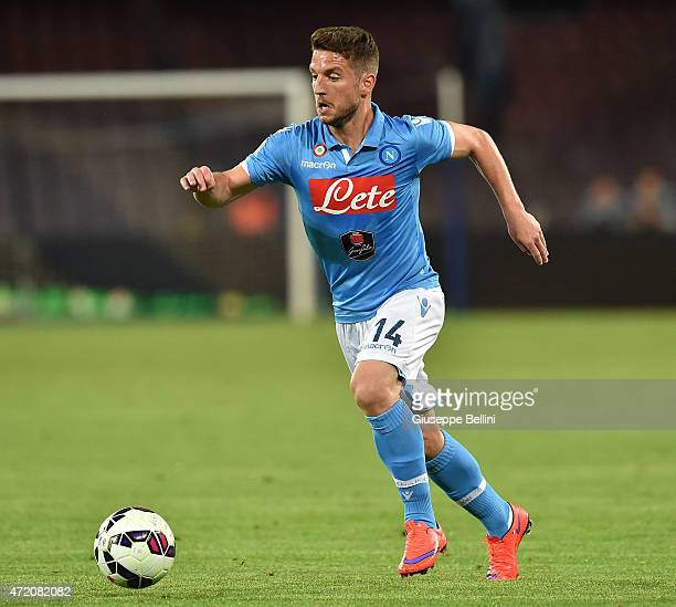 Dries Mertens of Napoli in action during the Serie A match between SSC Napoli and AC Milan at Stadio San Paolo on May 3 2015 in Naples Italy