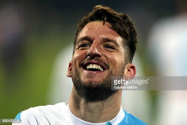 Dries Mertens of SSC Napoli celebrates after scoring a goal during the Serie A match between ACF Fiorentina and SSC Napoli at Stadio Artemio Franchi...
