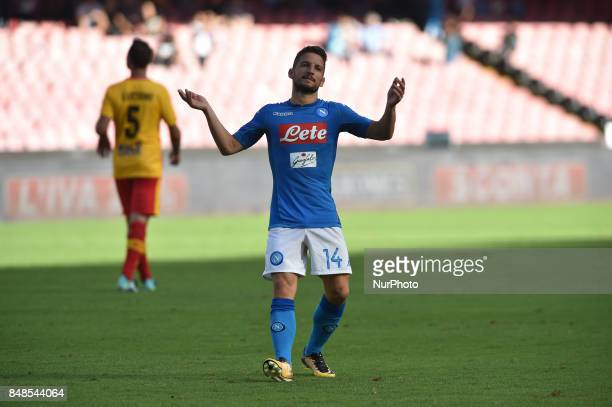 Dries Mertens of SSC Napoli celebrates during the Serie A TIM match between SSC Napoli and Benevento Calcio at Stadio San Paolo Naples Italy on 17...