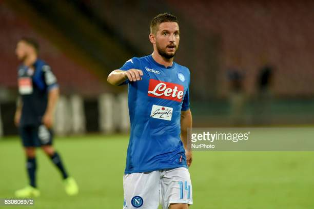 Dries Mertens of SSC Napoli during the Preseason Frendly match between SSC Napoli and RCD Espanyol at Stadio San Paolo Naples Italy on 10 August 2017
