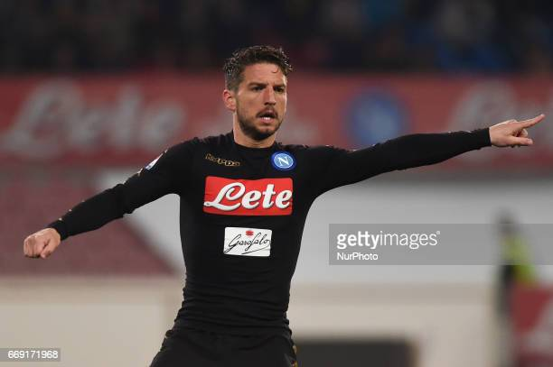 Dries Mertens of SSC Napoli during the Serie A TIM match between SSC Napoli and Udinese Calcio at Stadio San Paolo Naples Italy on 15 April 2017