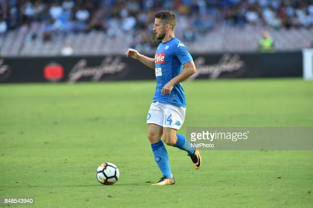 Dries Mertens of SSC Napoli during the Serie A TIM match between SSC Napoli and Benevento Calcio at Stadio San Paolo Naples Italy on 17 September 2017