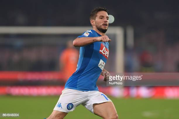 Dries Mertens of SSC Napoli during the Serie A TIM match between SSC Napoli and FC Internazionale at Stadio San Paolo Naples Italy on 22 October 2017