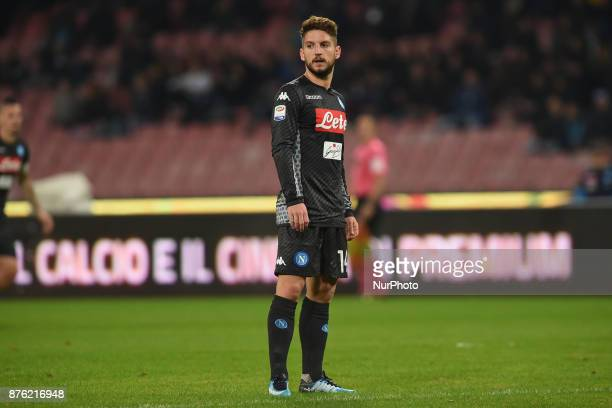 Dries Mertens of SSC Napoli during the Serie A TIM match between SSC Napoli and AC Milan at Stadio San Paolo Naples Italy on 18 November 2017