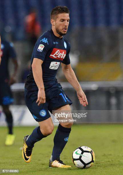 Dries Mertens of SSC Napoli in action during the Serie A match between SS Lazio and SSC Napoli at Stadio Olimpico on September 20 2017 in Rome Italy