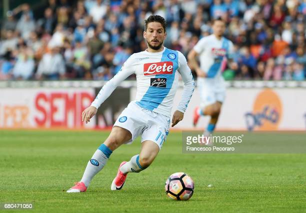 Dries Mertens of SSC Napoli in action during the Serie A match between SSC Napoli and Cagliari Calcio at Stadio San Paolo on May 6 2017 in Naples...
