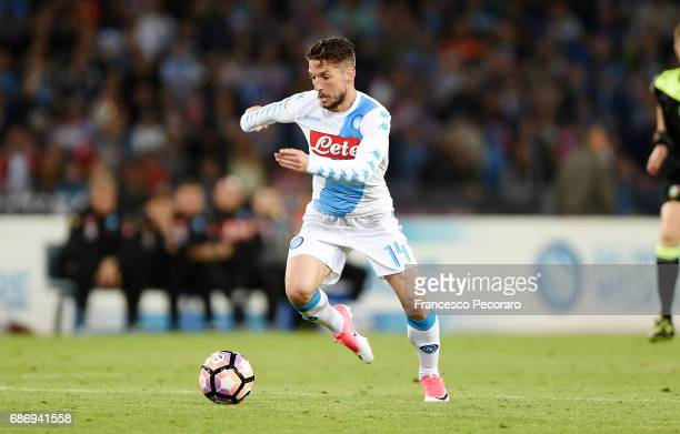 Dries Mertens of SSC Napoli in action during the Serie A match between SSC Napoli and ACF Fiorentina at Stadio San Paolo on May 20 2017 in Naples...