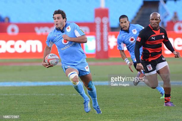 Dries Swanepoel of Blue Bulls during the Vodacom Cup Quarter Final match between Vodacom Blue Bulls and Eastern Province Kings at Loftus Versveld on...