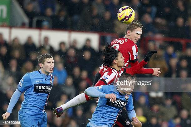 Dries Wuytens of Willem II Karim Rekik of PSV Stijn Wuytens of Willem II Luuk de Jong of PSV during the Dutch Eredivisie match between PSV and Willem...