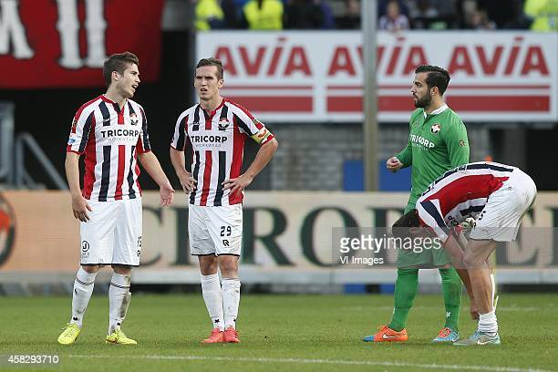Dries Wuytens of Willem II Stijn Wuytens of Willem II Goalkeeper Kostas Lamprou of Willem II Mitchell Dijks of Willem II during the Dutch Eredivisie...
