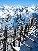 Drift fence on Sun Valley Bald Mountain
