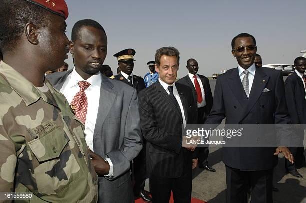 Flash Visit Of Nicolas Sarkozy In Chad Prétendant sauver les enfants du Darfour l'association française 'L'Arche de Zoé' a tenté d'évacuer...