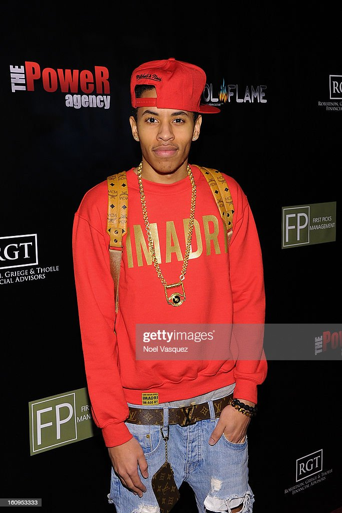 Driicky Graham attends the Coool Flame Magazine launch party at private residence on February 7, 2013 in Los Angeles, California.