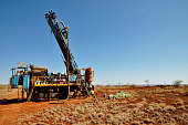Drilling for iron ore