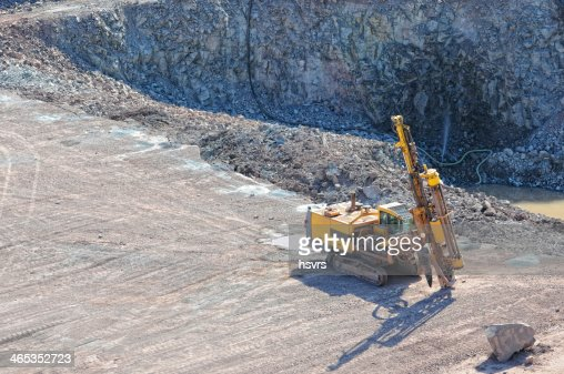 driller in a quarry