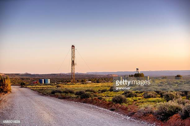Drilling Fracking Rig in the Desert