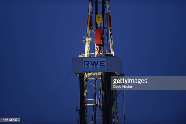 A drilling rig from RWE DEA operates on September 26 2014 near Walle Germany Germany produces approximately three million tons of petroleum...