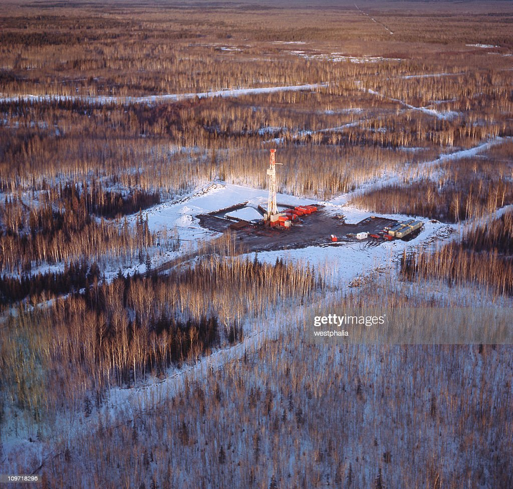 Drilling Rig from the Air : Stock Photo