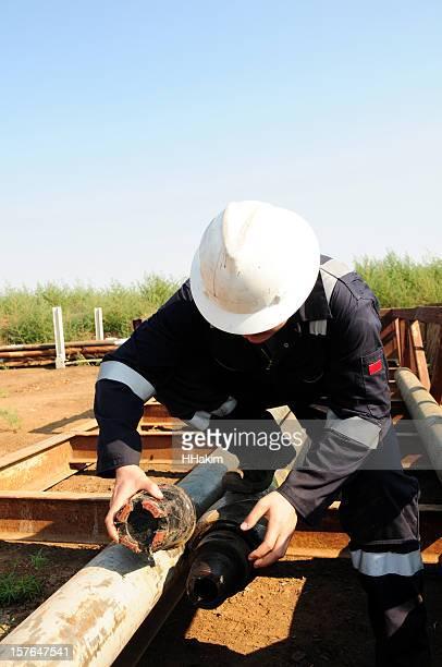 掘削リグ作業