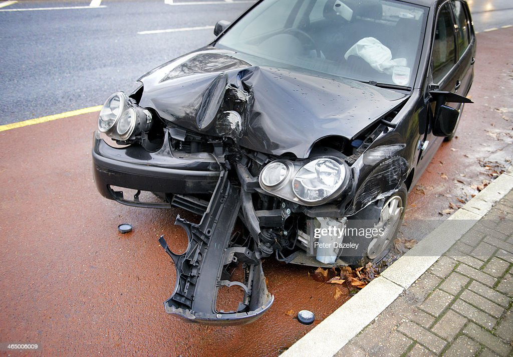 Drink driving accident : Stock Photo
