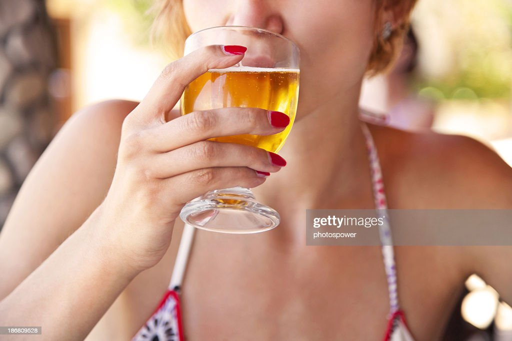 Drinking beer : Stock Photo