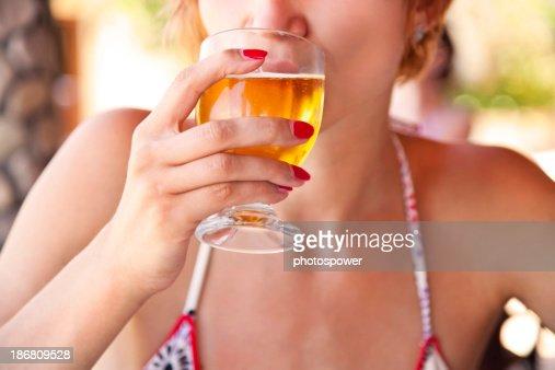 Drinking beer : Stock Photo
