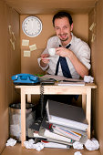drinking coffee - office in a box