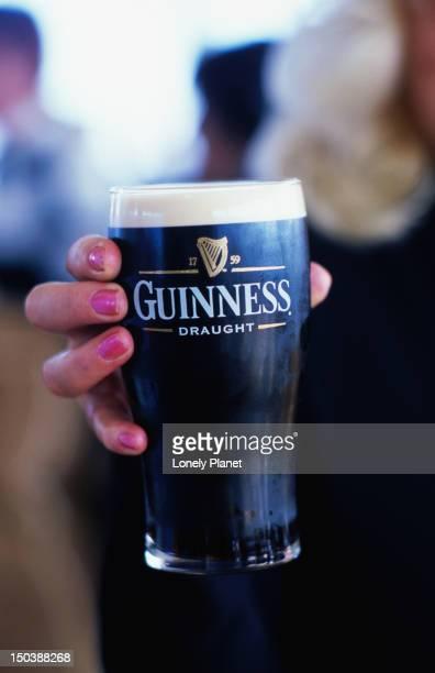Drinking Guinness at the Gravity Bar, Guinness storehouse.