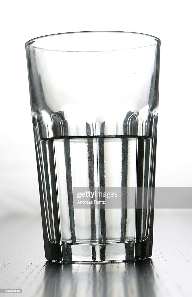 Drinking water is seen in a glass on January 14, 2007 in Berlin, Germany.