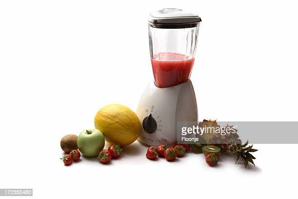 Drinks: Blender and Variety of Fruit