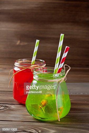 Bevande Mason Jar : Foto stock