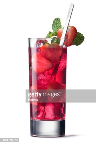 Cocktails Isolated: Strawberry Cocktail