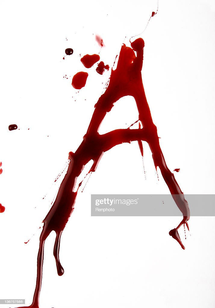 Dripping Bloody Alphabet A Stock Photo Getty Images