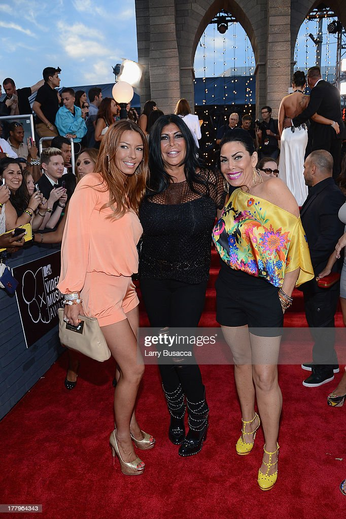 Drita Davanzo, Angela 'Big Ang' Raiola and <a gi-track='captionPersonalityLinkClicked' href=/galleries/search?phrase=Renee+Graziano&family=editorial&specificpeople=7643222 ng-click='$event.stopPropagation()'>Renee Graziano</a> attends the 2013 MTV Video Music Awards at the Barclays Center on August 25, 2013 in the Brooklyn borough of New York City.