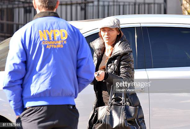 Drita D'Avanzo attends the funeral service held for Angela 'Big Ang' Raiol on February 22 2016 in New York City 'Mob Wives' reality star Angela 'Big...