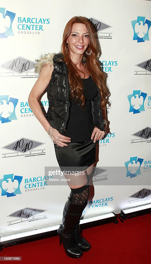Drita D'Avanzo attends the grand opening of the 40/40 Club at Barclays Center on September 27, 2012 in the Brooklyn borough of New York City.