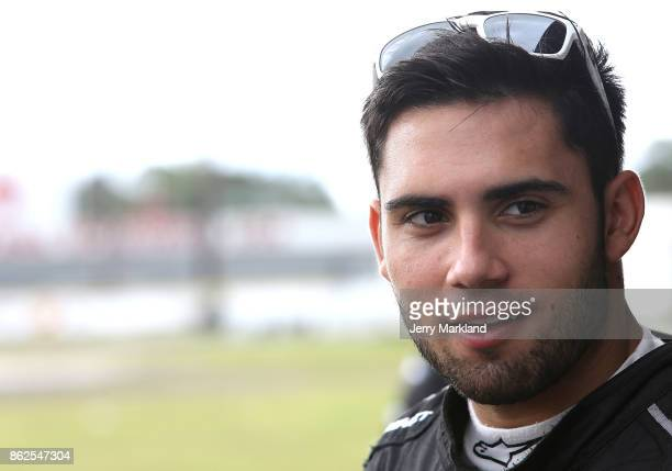 Drive for Diversity Combine participant Chase Cabre looks on at New Smyrna Speedway on October 17 2017 in New Smyrna Florida