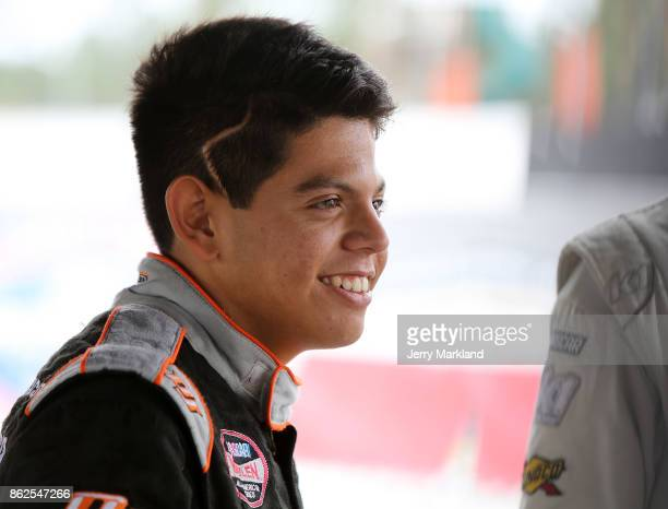 Drive for Diversity Combine participant Ryan Vargas looks on at New Smyrna Speedway on October 17 2017 in New Smyrna Florida
