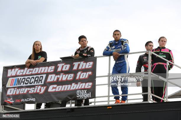 Drive for Diversity Combine participants look on at New Smyrna Speedway on October 17 2017 in New Smyrna Florida