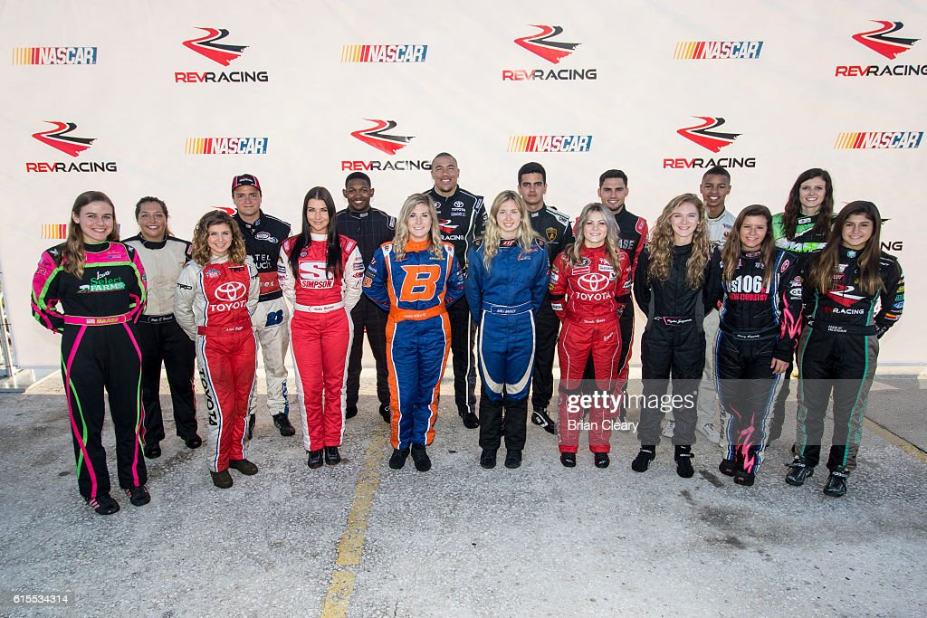 Drive for Diversity Developmental Program Combine participants pose for a group photo at New Smyrna Speedway on October 18, 2016 in New Smyrna Beach, Florida.