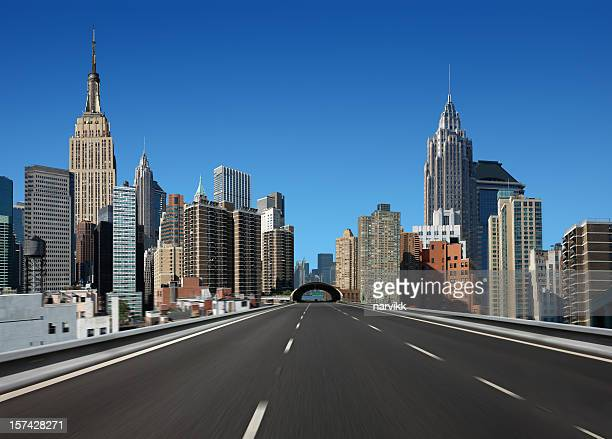 Route dans la ville de New York