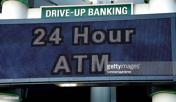 ATM Drive - Up Banking Sign