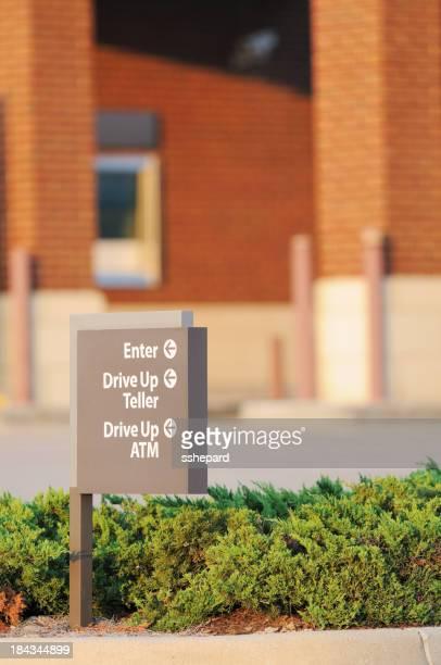 Drive up teller atm enter sign