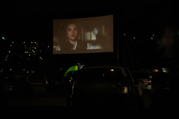 VEN: Drive-In Cinema Opens In Caracas During Coronavirus Lockdown