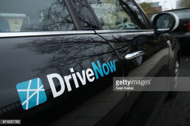 DriveNow car stands parked in the city center on November 14 2017 in Berlin Germany A number of companies have plunged into the market for sharing...