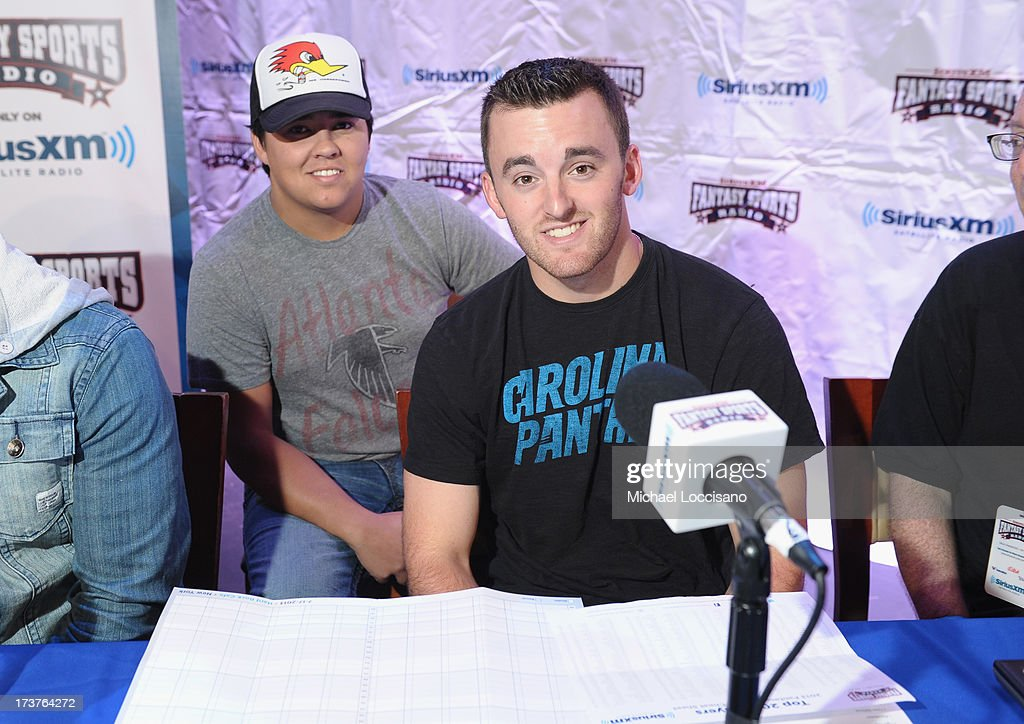 Driver <a gi-track='captionPersonalityLinkClicked' href=/galleries/search?phrase=Austin+Dillon&family=editorial&specificpeople=5075945 ng-click='$event.stopPropagation()'>Austin Dillon</a> attends the SiriusXM Celebrity Fantasy Football Draft at Hard Rock Cafe - Times Square on July 17, 2013 in New York City.