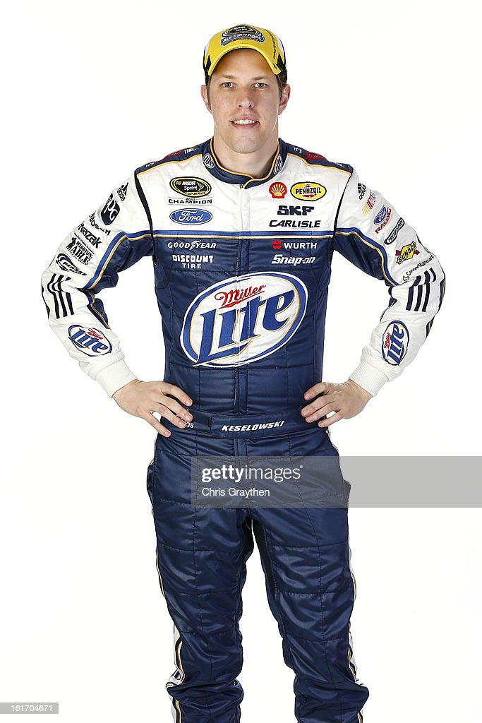 Driver Brad Keselowski poses during portraits for the 2013 NASCAR Sprint Cup Series at Daytona International Speedway on February 14, 2013 in Daytona Beach, Florida.