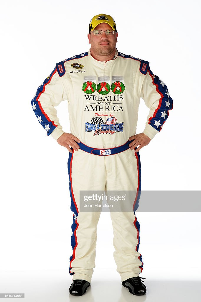 Driver Brian Keselowski poses during portraits for the 2013 NASCAR Sprint Cup Series at Daytona International Speedway on February 17, 2013 in Daytona Beach, Florida.